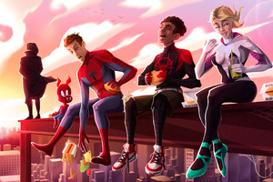 SpiderMan Into The Spider Verse New Artwork 4k Wallpaper