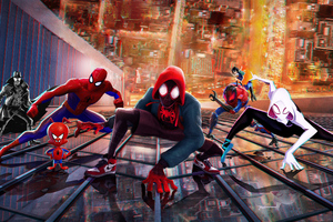 SpiderMan Into The Spider Verse New China Poster Wallpaper