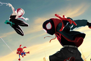 Spiderman Into The Spiderverse 5k Wallpaper