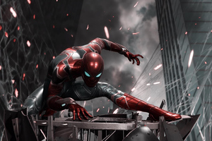 Spiderman Iron Suit Ps4 Wallpaper
