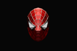 Spiderman Low Poly 4k