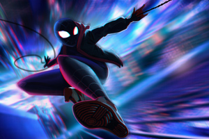 Spiderman Miles Morales Jump 5k Wallpaper