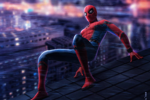 Spiderman On The Wall 5k Wallpaper
