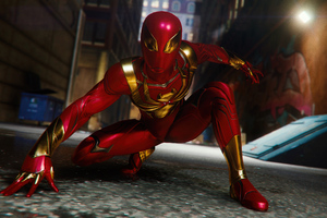 Spiderman Ps4 Red Suit