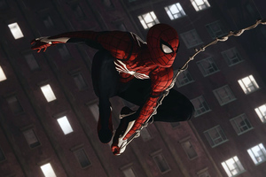 Spiderman Shooting Spider Web4k Wallpaper