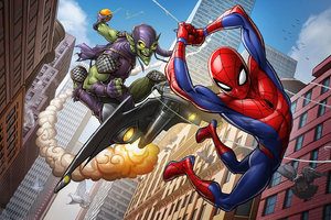 Spiderman The Animated Series Artwork Wallpaper