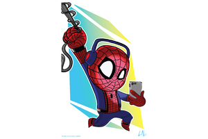 Spidey Listening Spotify Wallpaper
