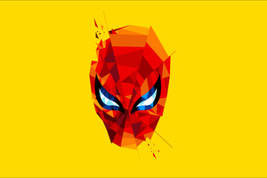 Spidey Mask Artwork Wallpaper