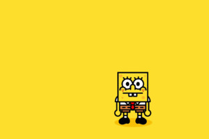 Spongebob Minimalism Wallpaper