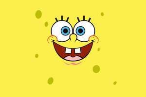 Spongebob Squarepants Minimalist 4k Wallpaper