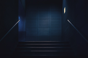 Stairway Dark Lights Minimalism 4k Wallpaper