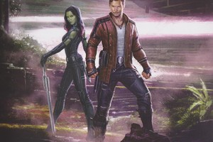 Star Lord And Gamora Artwork