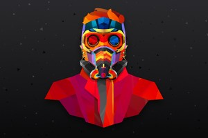 Star Lord Colorful Abstract Wallpaper