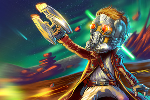 Star Lord Guardians Of The Galaxy Art Wallpaper