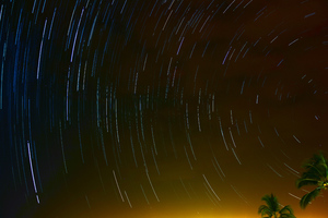 Star Trails Night Long Exposure 5k Wallpaper