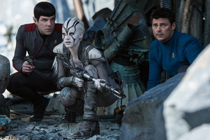 Star Trek Beyond Zachary Quinto And Sofia Boutella Wallpaper