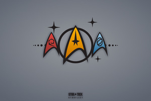 Star Trek Minimalism Logo 5k Wallpaper
