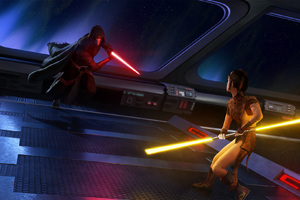 Darth Revan Star Wars With Lightsaber Hd Artist 4k