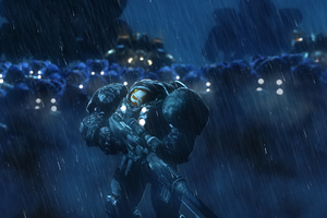 Starcraft Raiders On The Storm Wallpaper