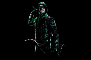 Stephen Amell As Green Arrow 5k Wallpaper
