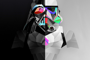 Stormtrooper And Darth Vader 4k Artwork
