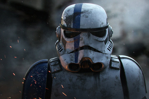 Stormtrooper Realistic Wallpaper