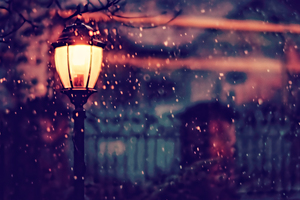 Street Light Winter 4k Wallpaper