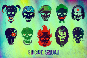 Suicide Squad Characters Minimalism