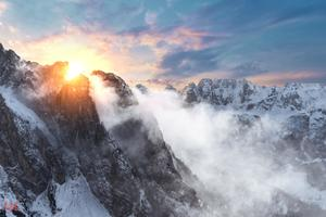 Sunrise In The Dolomites 5k Wallpaper