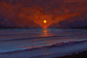 Sunset Digital Art Wallpaper