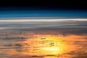 Sunset From The International Space Station Wallpaper