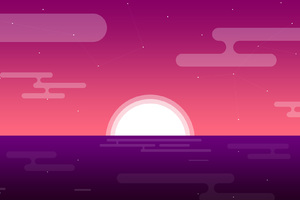 Sunset Minimalism Wallpaper