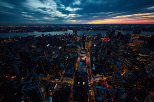 Sunset New York City Wallpaper