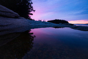 Sunset On The Rocks Of Maine