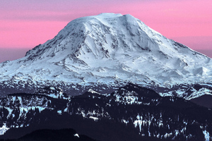 Sunset Over Mt Adams Wallpaper
