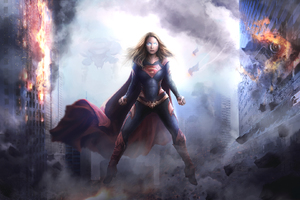 Supergirl Arts 2018 Wallpaper