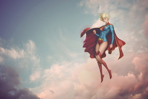 Supergirl Fantasy Art Wallpaper