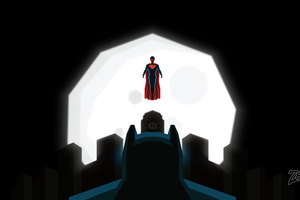 Superman And Batman Art Wallpaper