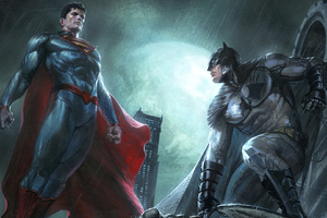 Superman And Batman Dc Comics Superheroes Artwork Wallpaper