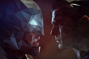 Superman And Batman Low Poly