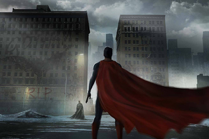 Superman Cape Flying