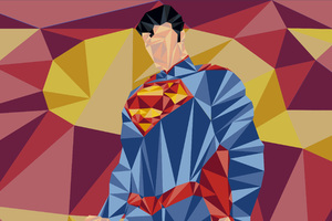 Superman Low Poly Art