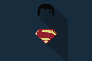 Superman Minimalism Poster Wallpaper