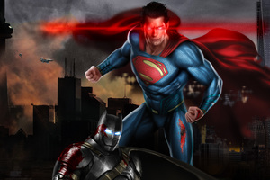 Superman Vs Batman 5k Art Wallpaper