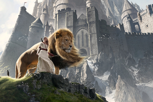 Susan And Aslan The Chronicles Of Narnia Extended Wallpaper
