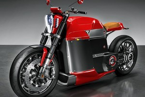 Tesla Electric Motorcycle Wallpaper