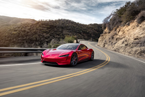 Tesla Roadster Fastest Electric Car Wallpaper