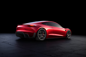 Tesla Roadster Rear Look Wallpaper