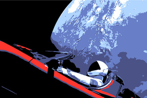 Tesla Roadster Space X