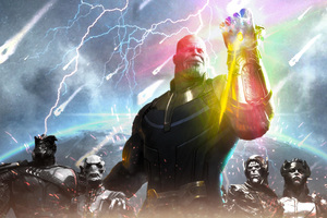 Thanos Avengers Infinity War 2018 Artwork Wallpaper